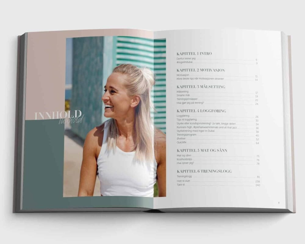 Treningsdagbok med Inger in Dubai