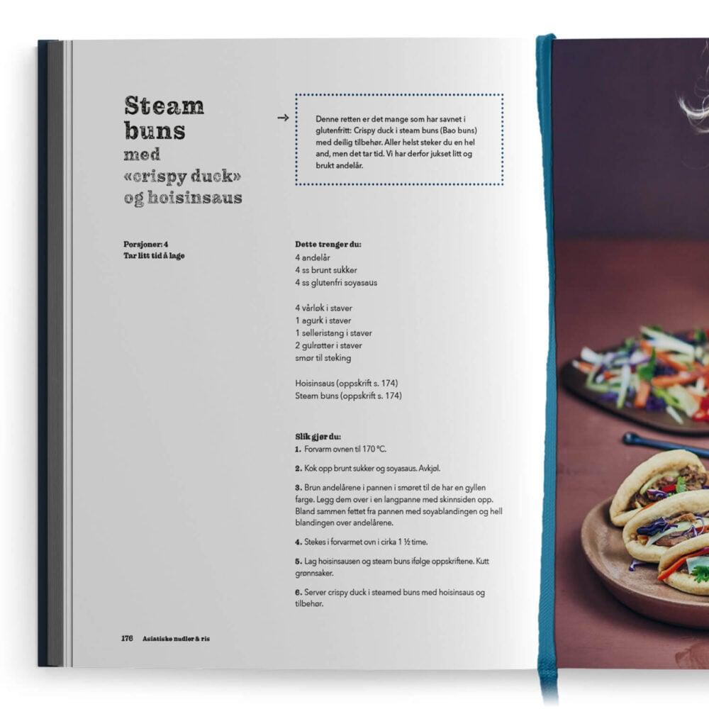 Den store glutenfrie kokeboka – steam buns med crispy duck og hoisinsaus