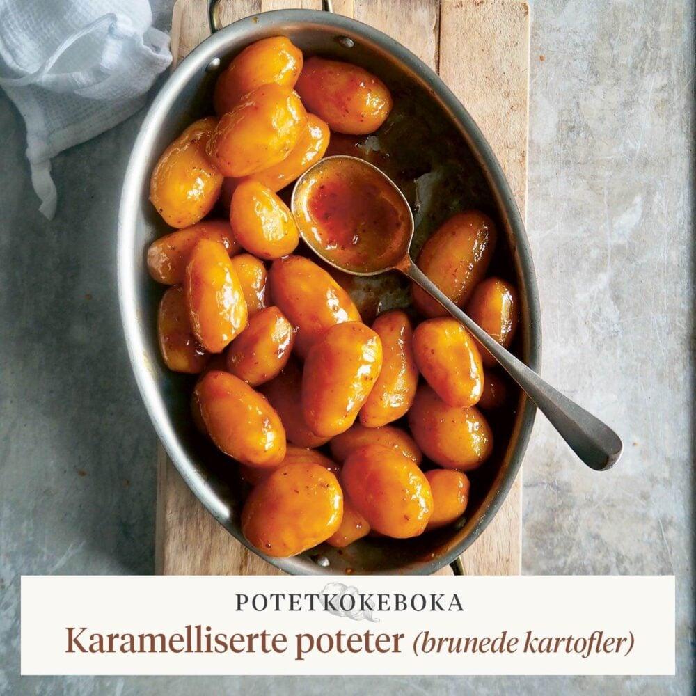 Potetkokeboka – Karamelliserte poteter