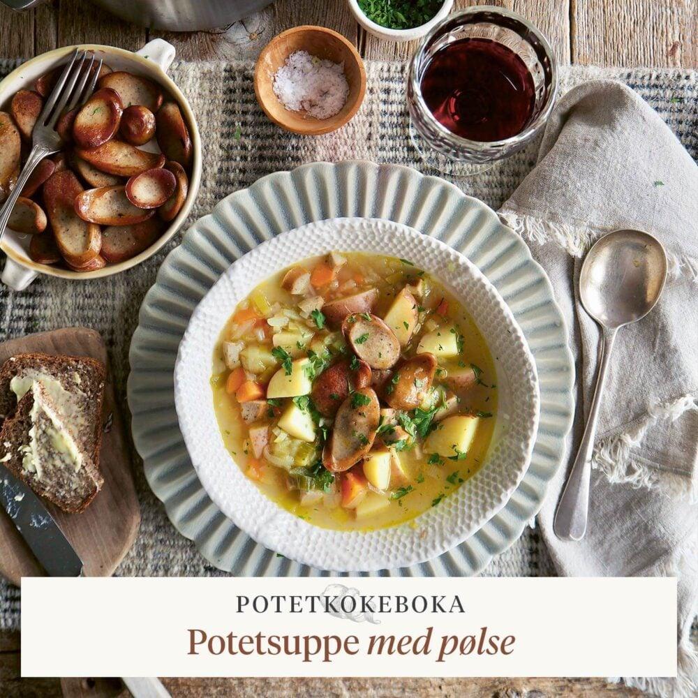 Potetkokeboka – Potetsuppe med pølse