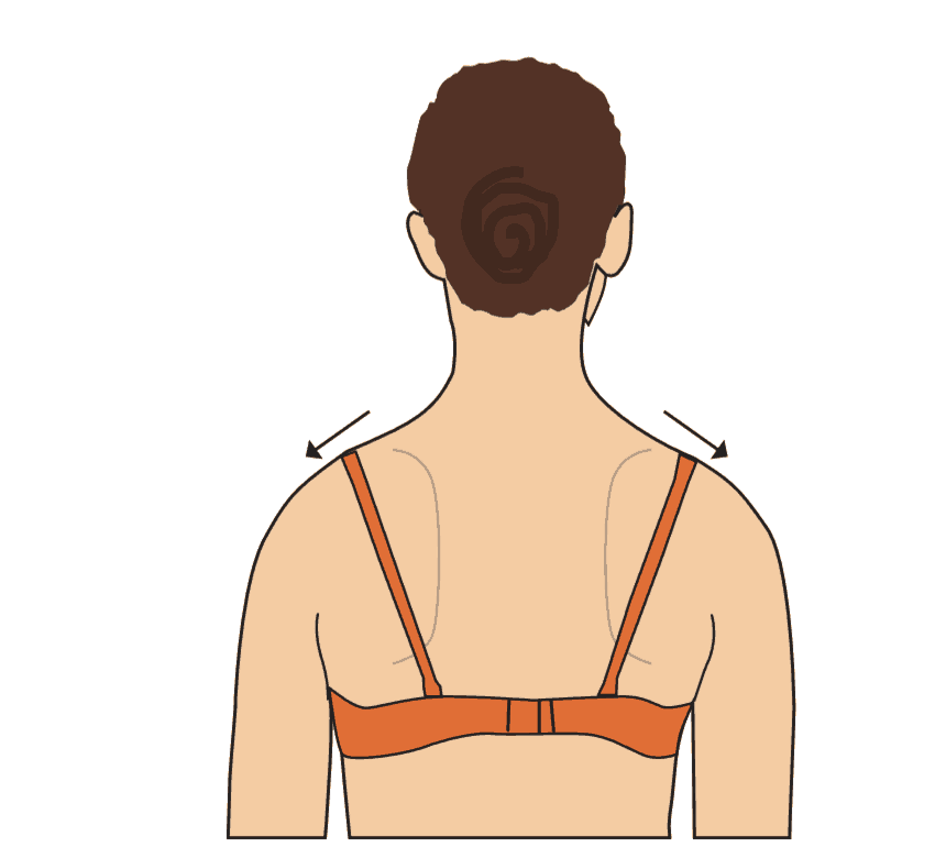 Hvordan påvirker bh-en skuldrene?