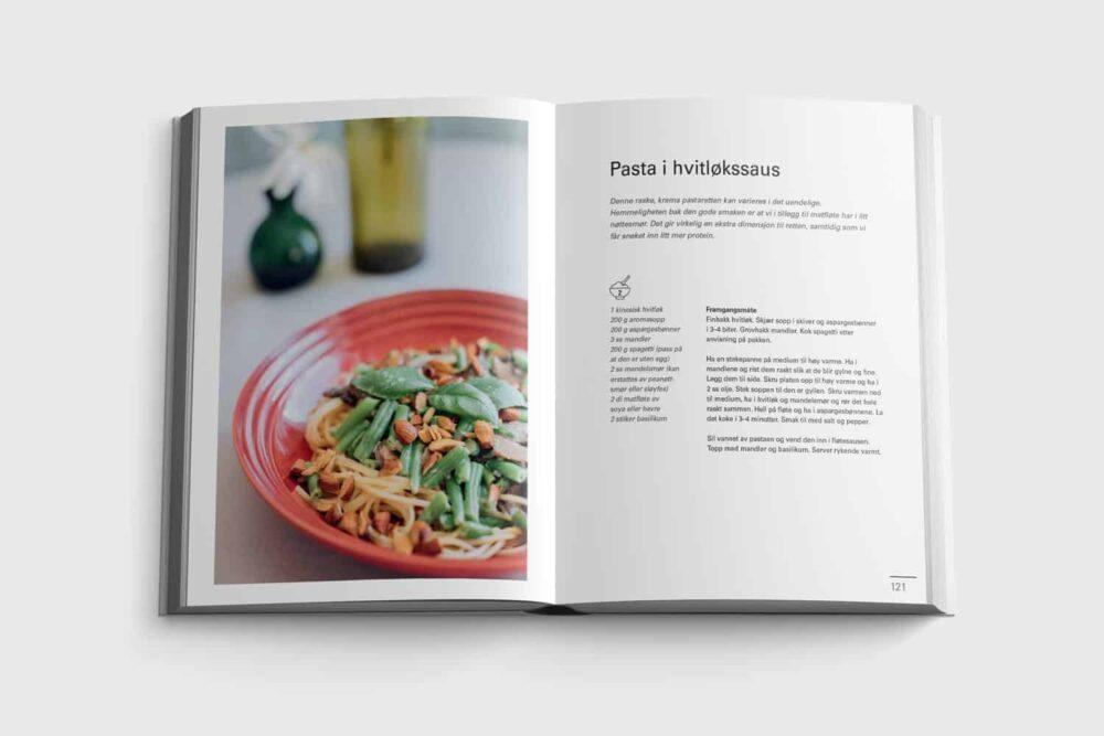 Pasta i hvitløkssaus fra boken Sykt enkelt