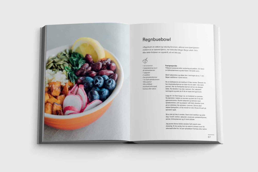 Regnbuebowl fra boken Sykt enkelt
