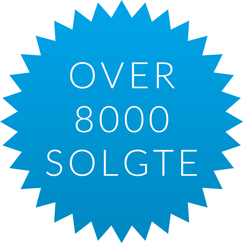 Over 8000 solgte